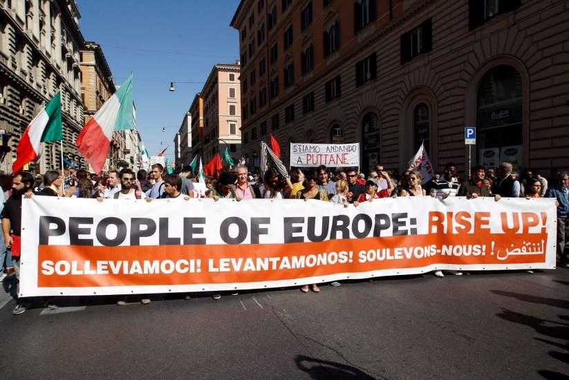 La marcha en Roma