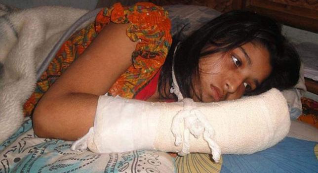 La joven víctima, Hawa Akhter, de 21 años